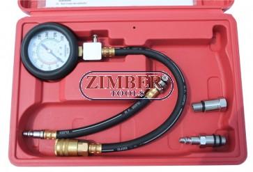 Petrol engine compression tester kit  ZT-04153 - ZIMBER-TOOLS