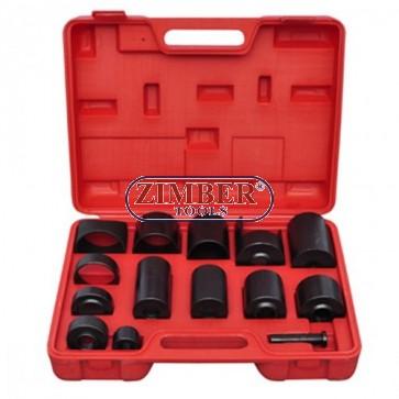 BALL JOINT KIT MASTER SET ADAPTORS, ZT-04010 - SMANN TOOLS