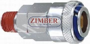 "Air line quick coupler 1/2"" ZDC 2 Steel Japanese type - ZIMBER"
