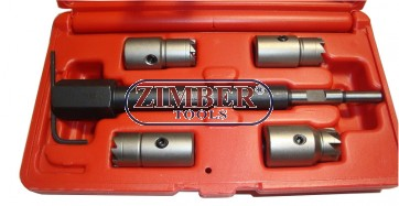 5-piece Injector Sealing Cutter Set for CDI Engines, ZR-36DISCS - ZIMBER-TOOLS.