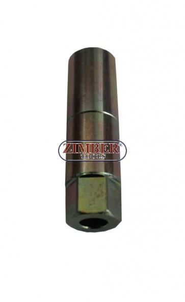 Broken glow plug electrode extractor socket (part from broken glow plug tool set 36GPT) - ZIMBER TOOLS