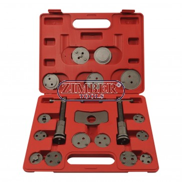 18pcs Positive & Negative Caliper Wind Back Kit, ZT-04B4002 - SMANN TOOLS