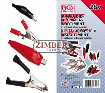 Electrical Clip Assortment | 28 pcs. (8138) - BGS technic.