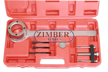Engine Crankshaft Pulley Remover Tool Set-Jaguar-Land Rover V8-Chain Drive - ZT-04B2096 - SMANN TOOLS.