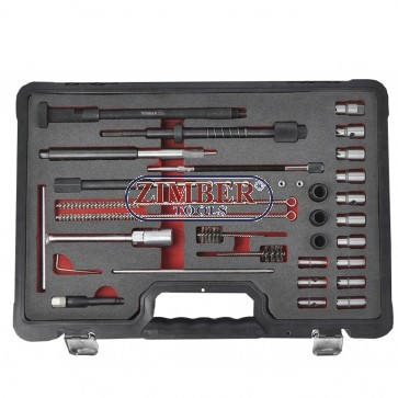For Diesel injector seat cutter set and cleaning of the injectors seats and glow plugs manholes - ZT-04A3065 - SMANN TOOLS