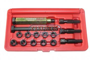 Glow Plug Thread Set  10mm х 1 - 16-PCS (ZR-36GPTS101016) - ZIMBER TOOLS