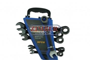 Flat gear wrenches set, 10mm - 17mm, 72 teeth ratcheting, 6pcs. - (ZT-04644) - SMANN TOOLS