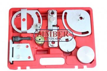 Crankshaft Alignment Timing Fixture Kit Tools for Landrover, Jaguar, Volvo S80, XC90, XC60, XC70 3.0T, 3.2. T6 - ZT-04A2137-SMANN TOOLS.