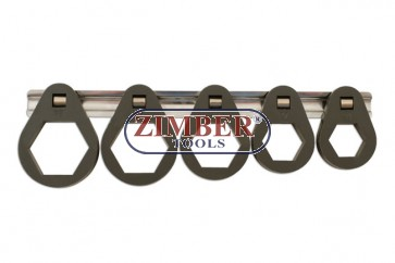 Oil Filter Removal Tools 5pcs 24mm | 27mm | 32mm | 36mm | 38mm- ZR-36OFRT7 - ZIMBER TOOLS.