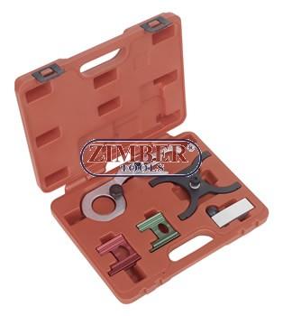 Petrol Engine Setting /Locking Tool Kit 5pc - GM, Saab - ZIMBER-TOOLS.