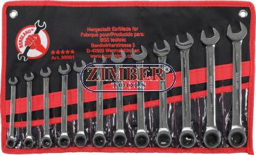Ratchet Combination Wrench Set | 8 - 19 mm | 12 pcs. 30001 - BGS technic.