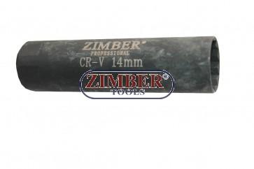 "Spark Plug Socket 14-mm 3/8"", ZR-36SPSWS3814 - ZIMBER-TOOLS"