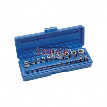 Star Socket & Bit Set - 23 Piece.ZR-14BSSS23 - ZIMBER TOOLS