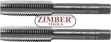 Tap Set Starter & Plug Tap M12 x 1.5 2 pcs. (1900-M12X1.5-B) - BGS technic