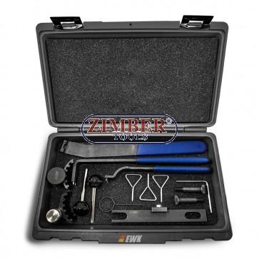 Timing Belt Tool Set for TDI VW Audi OEM 3387, T10020, T10098A, T10050 / 310085, T10010, 3359 / T20102, T10060/A, T10115, T40011 , ZR-36ETTS164 - ZIMBER-TOOLS