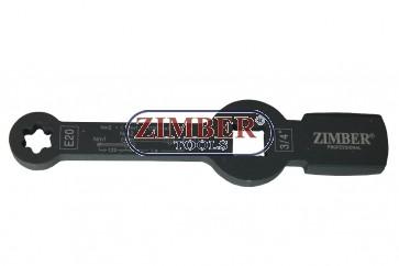 Torx slogging wrench with 2 striking faces E20,MAN TGL i TGM - ZR-36TSWE20 - ZIMBER TOOLS