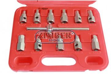 Drain Plug Key set - 12pcs