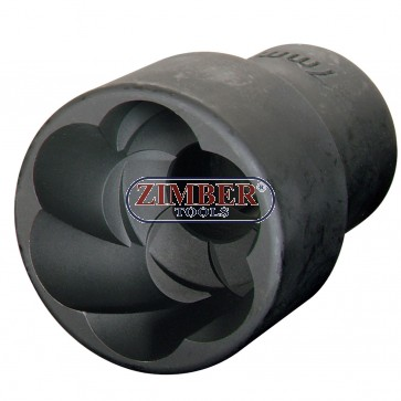 "1/2""Dr. 12-mm Twist Socket,  ZR-41PTSS1212- ZIMBER TOOLS"