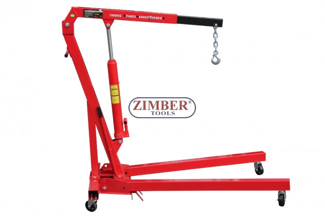 1 ton folding hydraulic engine crane hoist lift zt 04f0024 smann tools. Black Bedroom Furniture Sets. Home Design Ideas