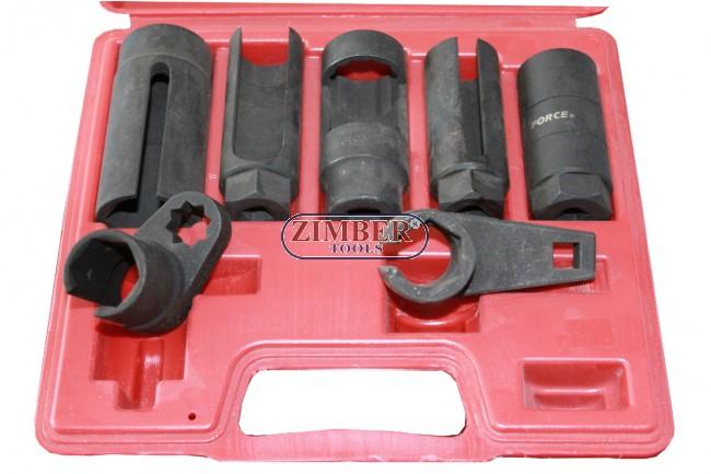 7pcs Professional Oxygen Sensor Switch Socket Set  - FORCE