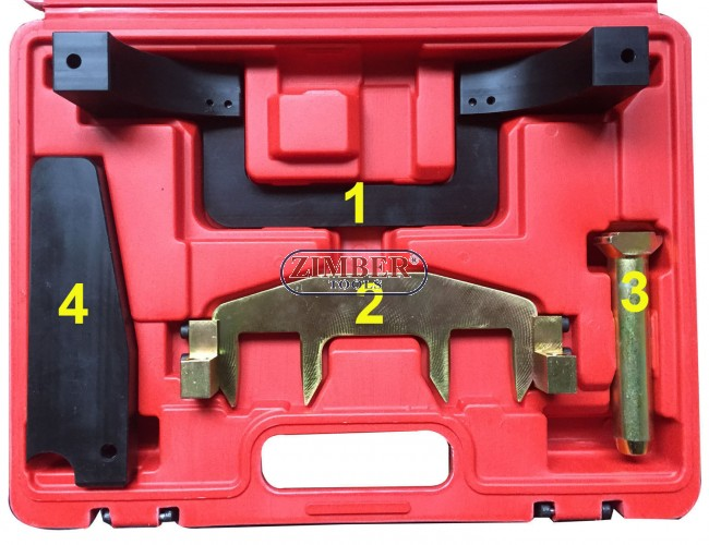 Timing chain replacing tool kit for Mercedes Benz M271, ZT-04A2121 - SMANN  TOOLS
