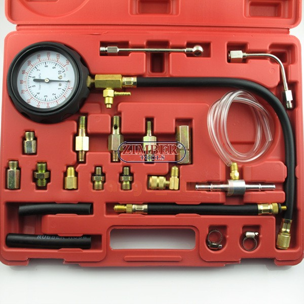 Fuel Pressure Meter Tester Oil Combustion Spraying Injection Gauge Test  Tool Kit, ZT-04105A - ZIMBER-TOOLS