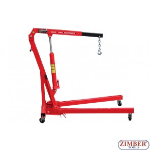 1 Ton Folding Hydraulic Engine Crane Hoist Lift, - ZT-04F0024 - SMANN TOOLS.
