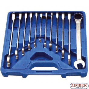 12-piece Ratchet Wrench Set, 8-19 mm