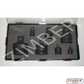 "Impact adapter set (ball type) 1/2"", 7pcs. - (K4079) - FORCE"