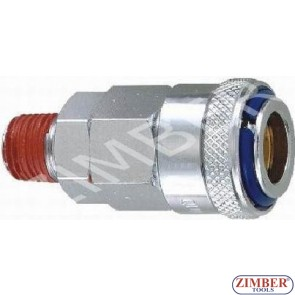 "Air line quick coupler 3/8"" ZDC 2 Steel Japanese type - ZIMBER"