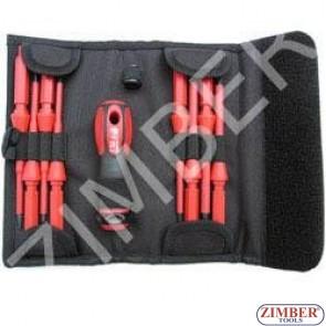 Insulated screwdriver set 8pc., 1000V (ZL-S5608P) - ZIMBER TOOLS