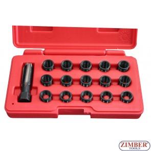 16PCS Spark Plug Thread Repair Tool Set, ZT-01S0525 - SMANN TOOLS