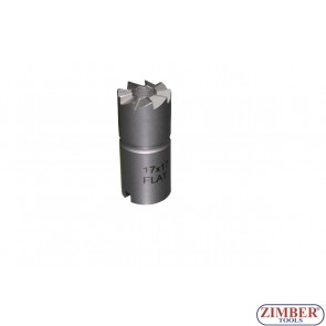 Diesel Injector Nozzle Cleaner 1pc 17x19mm FLAT REAMER for Bosch injectors (Mercedes CRD). ZR-41FR02 - ZIMBER TOOLS