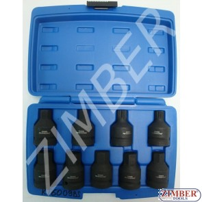 "Bit Socket Set Internal Hexagon + Spline 9-piece 3/4""ZL- 6009BS - ZIMBER TOOLS."