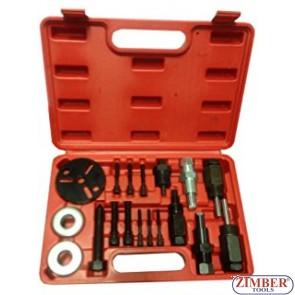 18pc A/C Compressor Clutch Hub Remover Kit - ZT-04D1027 - SMANN TOOLS