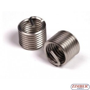 Thread insert-stainless steel  M10 x 1,25 x 13,5mm, 1бр. (ZR-36TIM10125) - ZIMBER-TOOLS