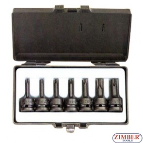 "1/2"" Star impact socket bit set 7pc - FORCE"