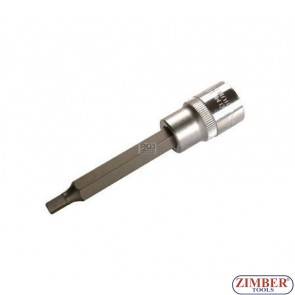 "1/2"" Hex socket bit 100mmL 5mm (ZB-4260) - BGS"