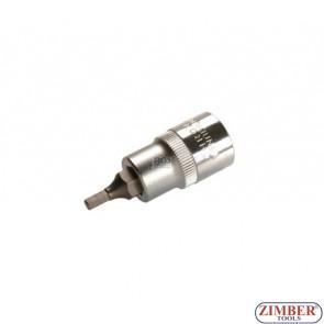 "1/2"" Hex socket bit 53mmL 4mm (ZB-4250) - BGS"