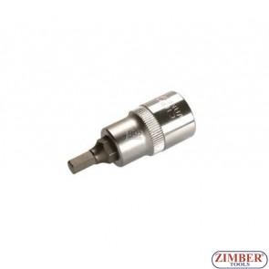 "1/2"" Hex socket bit 53mmL 6mm (ZB-4252) - BGS"