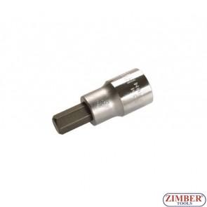 "1/2"" Hex socket bit 53mmL 10mm (ZB-4255) - BGS"