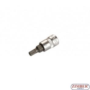 "1/4"" Spline socket bit 55mmL M8 (ZB-2503) - BGS"