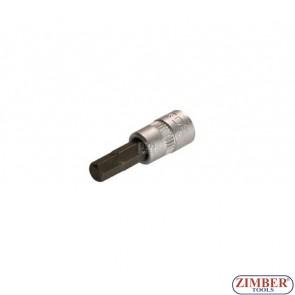 "1/4"" Hex socket bit 32mmL 6mm (ZB-2500) - BGS"