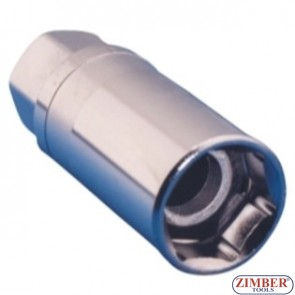 Dr. Magnetic Spark Plug Socket-6 Point  3/8 -16mm, ZR-04SP3816V01- ZIMBER TOOLS
