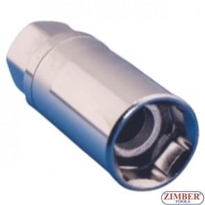 Dr. Magnetic Spark Plug Socket 16mm- 6 Point-1/2, ZR-04SP1216V02- ZIMBER TOOLS.