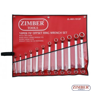 12PCS 75 OFFSET WRENCH RING WRENCH SET (6~32mm) - ZIMBER-TOOLS
