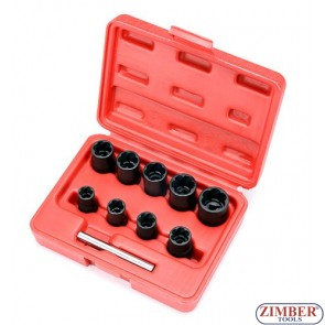 3/8 Inch DR Twist Socket (10 PCS) - ZIMBER TOOLS