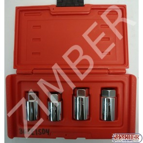 "1/2""DR. 4PCS STUD EXTRACTOR/INSTALLER SOCKET SET - ZIMBER"