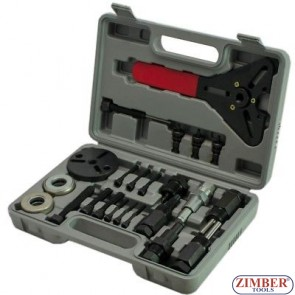 23pcs Air conditioner car compressor clutch hub remover installer kit  - ZT-04D1022 - SMANN TOOLS