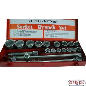 "21 PIECE-3/4""Drive Socket Wrench Set"